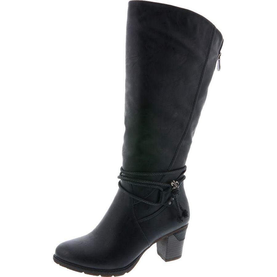 Rieker 96059 00 Black – Svarta stövlar i syntet Damskor